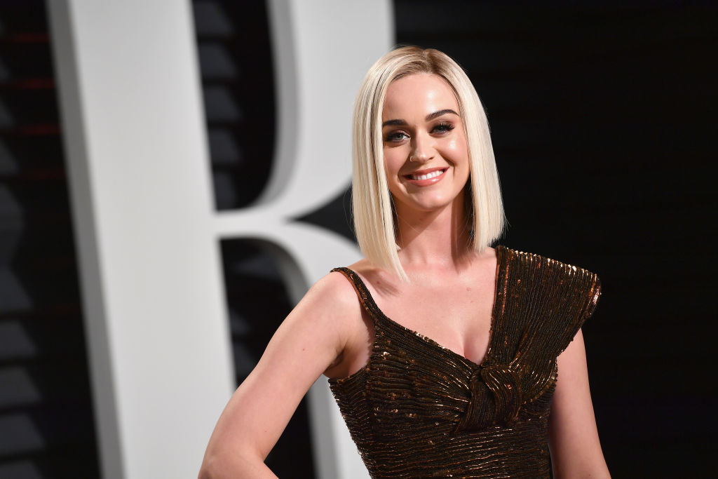 BEVERLY HILLS, CA - FEBRUARY 26:  Singer-songwriter Katy Perry attends the 2017 Vanity Fair Oscar Party hosted by Graydon Carter at Wallis Annenberg Center for the Performing Arts on February 26, 2017 in Beverly Hills, California.  (Photo by Pascal Le Segretain/Getty Images)