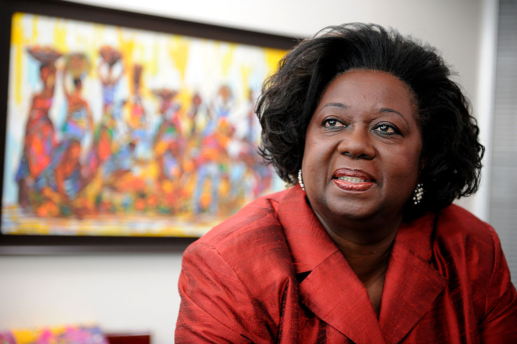 DEC 18 2008 pics of . .jean augustine,the new ontario fairness commissioner whose agency produced a report on how canada is trying to bridge the gap between internationally trained professionals and the regulatory bodies that make them jump through hoops to get licensed . shots in her office. (Photo by Colin McConnell/Toronto Star via Getty Images)
